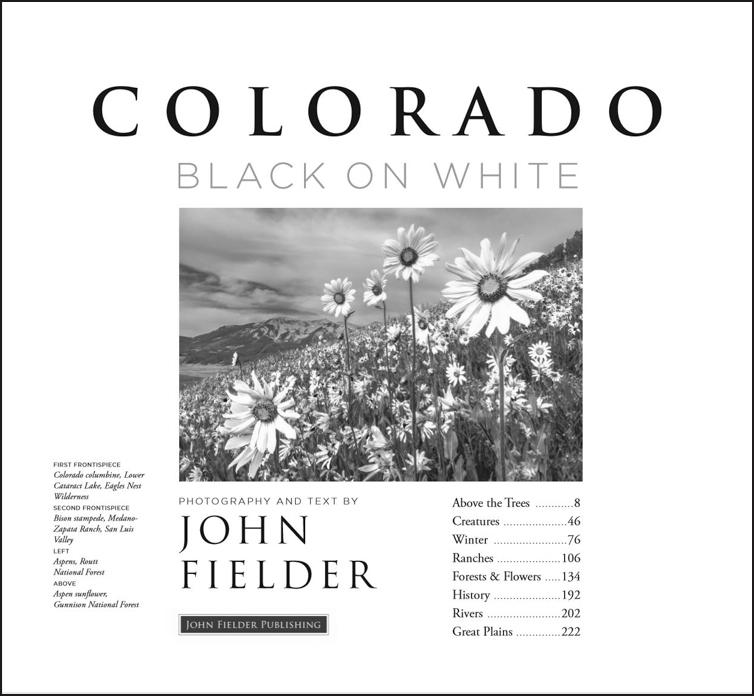 Black And White Colorado Landscape Photography Book John Fielder